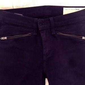 Rag and Bone Skinny Zip pocket pants